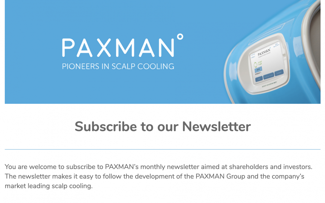 PAXMAN Newsletter
