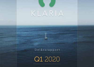 Klaria Interim Report Q1 2020